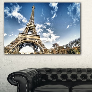 Eiffel Under Dark Cloudy Sky - Landscape Wall Art