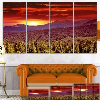Fantastic Sunrise in Mountains - Landscape Wall Art