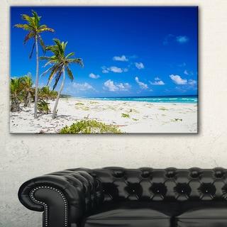 Beautiful Blue Sea with Palms - Seashore Large wall art canvas