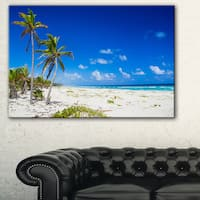 Beautiful Blue Sea with Palms - Seashore Large wall art canvas