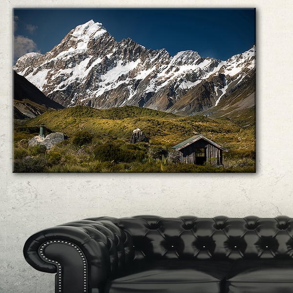 Shop Foggy Mountains And Valley Landscape Large Wall Art Canvas
