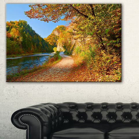 Dunajec River Gorge in Autumn - Landscape Large Wall Art - Yellow