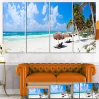 Bright Caribbean Beach - Seashore Landscape Canvas Art Print