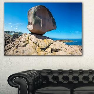 Pink Rock in Tregastel - Landscape Photography Canvas Print