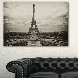 Vintage View of Paris, France - Cityscape Photo Canvas Print