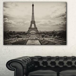 Vintage View of Paris, France - Cityscape Photo Canvas Print
