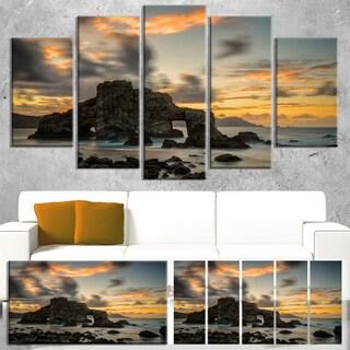 Yellow Atlantic Coast in Spain - Seashore Photo Canvas Print
