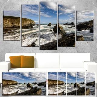 Blue Atlantic Coast in Spain - Seashore Photo Canvas Print
