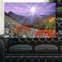 Rocky and Colorful Carpathian - Landscape Photo Canvas Art Print - Red