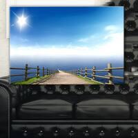 Endless Pier into Blue Sea - Seascape Photo Canvas Art Print