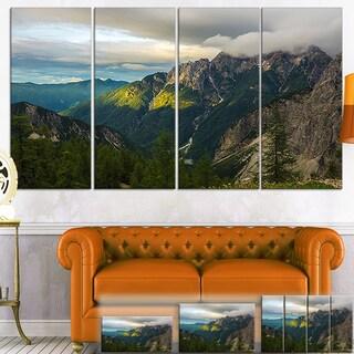 Sunrise with Yellow Reflection - Landscape Photo Canvas Art Print