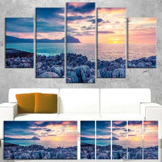 Spring Sunset Over Monte Cofano - Landscape Photo Canvas Print