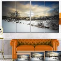 Snow Storm in Spain - Landscape Photography Canvas Art Print - Blue