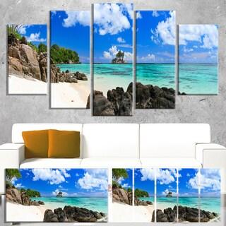 Ideal Beach in Seychelles - Seascape Photo Canvas Art Print