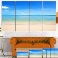 Calm Waves at Tropical Beach - Seashore Photo Canvas Print