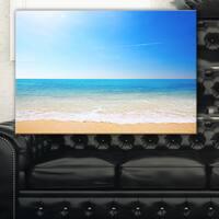Blue Waves at Tropical Beach - Seashore Photo Canvas Print