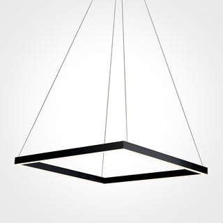 Vonn Lighting Atria Collection Black Aluminum/Acrylic/Metal 20-inch LED Adjustable Suspension Fixture Modern Square Chandelier