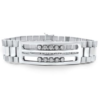 Noori 14 karat White Gold Floating Diamond Bracelet