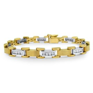 Noori 14k Yellow White Gold 1 4/5ct TDW Round Diamond Bracelet