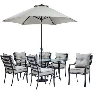 Hanover Outdoor Lavdn7pc Su Lavallette Grey Aluminum 7 Piece Dining Set With Table