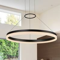 VONN Lighting VMC31650BL Tania 24-inch LED Modern Circular Chandelier in Black