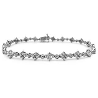 Noori 14k White Gold 2ct TDW Round Diamond Tennis Bracelet