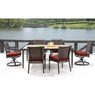 Hanover Outdoor MERCDN7PCSW-RED Mercer Crimson Red 7-piece Dining Set