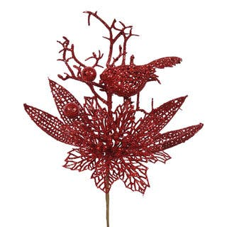 Red Glitter 13-inch Poinsettia Bird Pick (Pack of 12) https://ak1.ostkcdn.com/images/products/12102122/P18964651.jpg?impolicy=medium