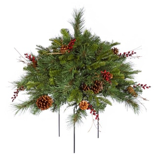 Vickerman Cibola Mixed Berry 1.5-foot Artificial Unlit Christmas Bush