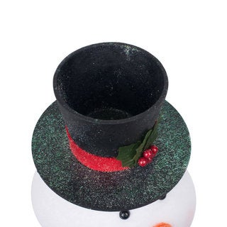 Vickerman Snowman Head 11-inch x 7.25-inch Planter