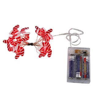 Vickerman Red and White 20 LED Stocking Light Set on Copper Wire