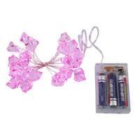20 LED Light Pink Ice Cube Set