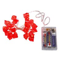 Vickerman Red Ice Cube Set With 20 LED Lights