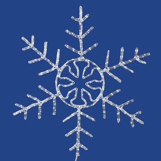Vickerman White Plastic 24-inch Forked Snowflake With 160 LED Lights
