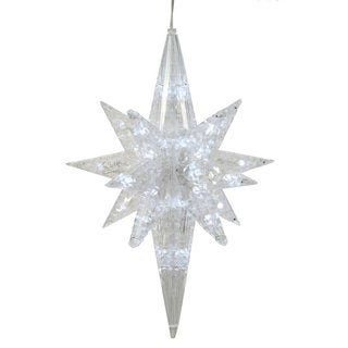 Vickerman Bethlehem Star Pure White 20-inch Ornament with 50 LED Lights