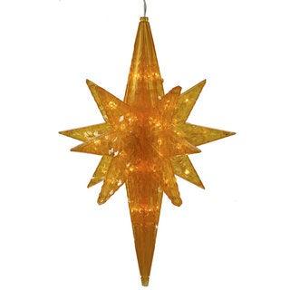 Vickerman Amber Plastic 20-inch Bethlehem Star with 50 LED Lights