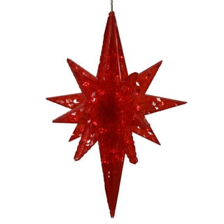 Vickerman Red Plastic 20-inch Bethlehem Star With 50 LED Lights