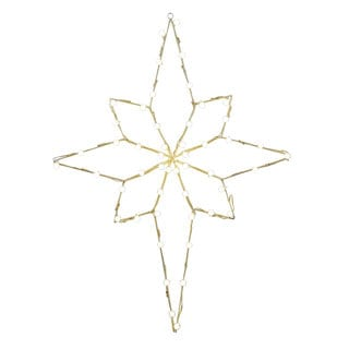 Vickerman Bethlehem Star Motif Gold Metal 48-inch x 36-inch Wire with C7 LED Lights