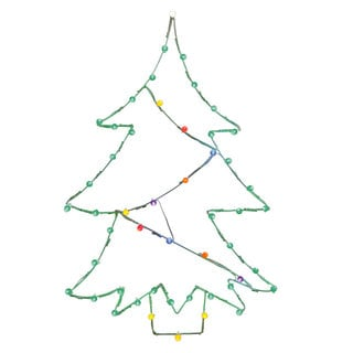 Multicolored Wire 48-inch x 32-inch LED Christmas Tree