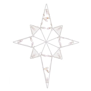 Vickerman White Metal Wire 39-inch x 30-inch Star of Bethlehem Silhouette with C7 LED Lights