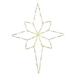 Vickerman Metal Wire 48-inch x 36-inch Bethlehem Star Motif with C7 Lights