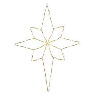 Vickerman Metal Wire 48-inch x 36-inch Bethlehem Star Motif with C7 Lights