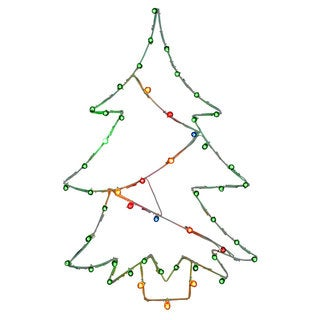Wire 48-inch x 32-inch Christmas Tree Motif With C7 Lights