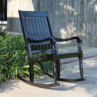 Cambridge Casual Lyon Mahogany Porch Rocking Chair - Black
