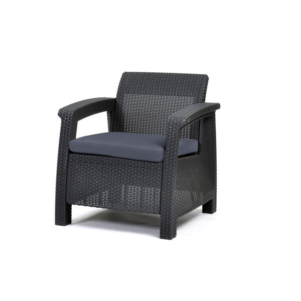Keter Corfu Charchoal Resin All weather Outdoor Patio  : Keter Corfu Charchoal Resin All weather Outdoor Patio Garden Furniture Armchair with Cushions 6e08f79d 4cd4 4aa7 9d86 543e1a1b2a62600 from www.overstock.com size 600 x 600 jpeg 30kB