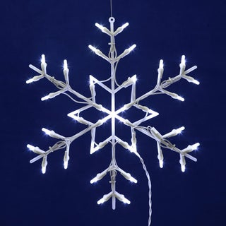 Snowflake White 16 x 16-inch LED Window Light Decor