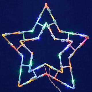 Vickerman Star 15-inch x 15-inch 35-light LED Window Decor