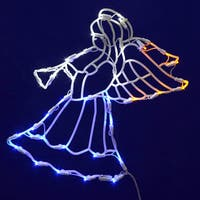 35 LED Light 17-inch x 14-inch Angel Window Decor
