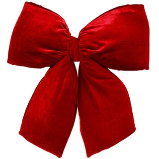 Vickerman Red Velvet 24-inch x 27-inch Structured Bow