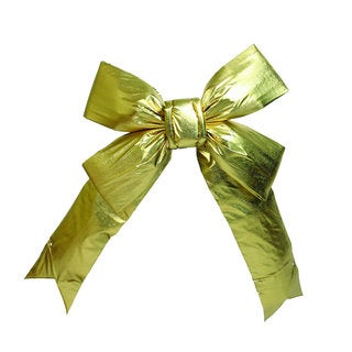 Vickerman Gold Plastic 36-inch x 45-inch Bow with 9-inch Ribbon